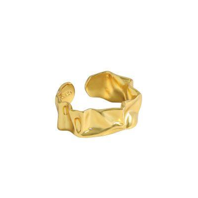 Irregular Folding 925 Sterling Silver Adjustable Ring
