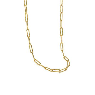 Simple Hollow Geometry Chain 925 Sterling Silver Necklace