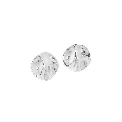 New Irregular Round 925 Sterling Silver Stud Earrings