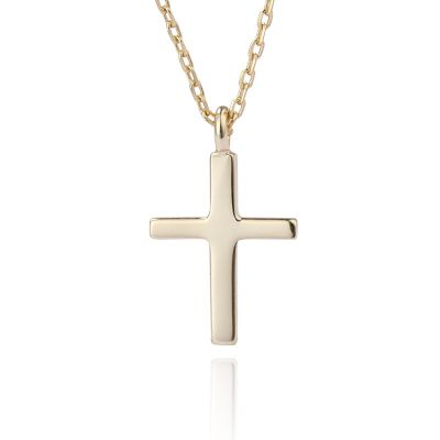 Simple Holy Cross 925 Sterling Silver Necklace