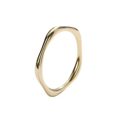 Masculine Geometry Polygon 925 Sterling Silver Tail Ring