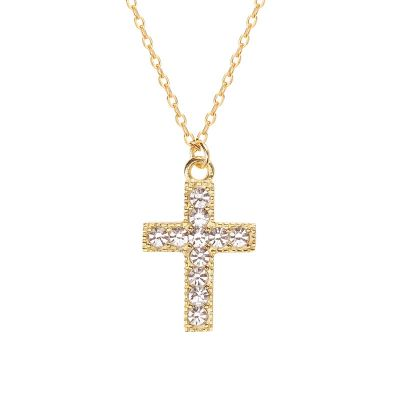Fashion CZ Cross 925 Sterling Silver Necklace