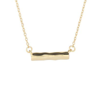 Simple Irregualr Wave Stick 925 Sterling Silver Necklace