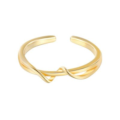 Simple Twisted Double Layer 925 Sterling Silver Adjustable Ring