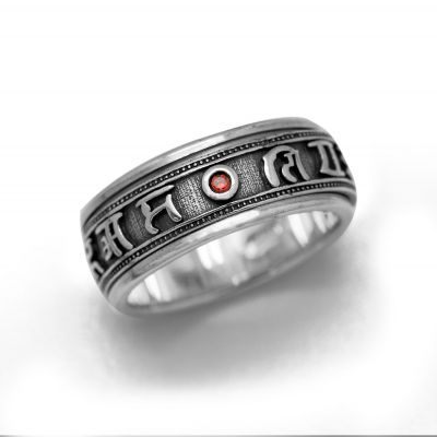 Vintage Buddhism Blessing 925 Sterling Silver Good Luck Ring