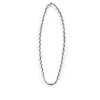 Vintage Barleycorn Bud Seed 925 Sterling Silver Men Chain Necklace