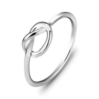 Simple Heart Knot 925 Sterling Silver Ring