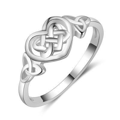Honey Moon Twisted Heart 925 Sterling Ring