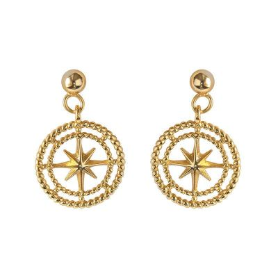 Women Octopus Stars 925 Sterling Silver Dangling Earrings