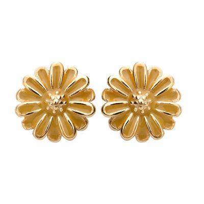 Sweet Daisy Flowers 925 Sterling Silver Stud Earrings
