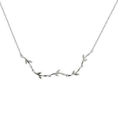 Girl Leaves Branch 925 Sterling Silver Necklace