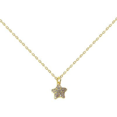 Girl CZ Star 925 Sterling Silver Necklace