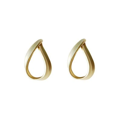 Masculine Hollow Waterdrop 925 Sterling Silver Dangling Earrings