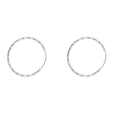 Fashion Circle Geometry 925 Sterling Silver Hoop Earrings
