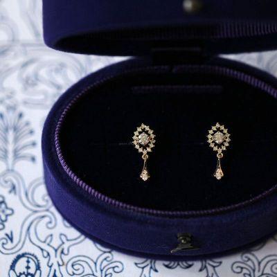 Elegant CZ Shining 925 Sterling Silver Dangling Earrings