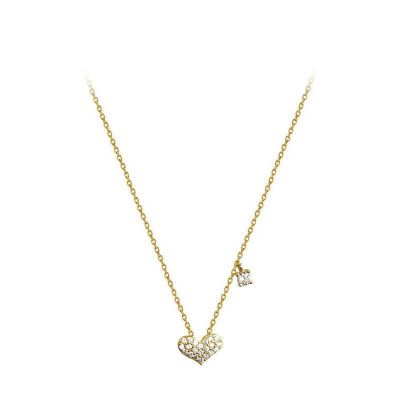 CZ Heart Masculine 925 Sterling Silver Necklace