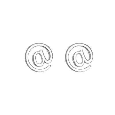 Cute @ Letters 925 Sterling Silver Stud Earrings
