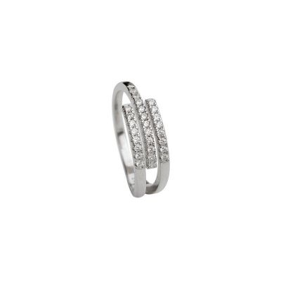 Office Triple CZ Lines 925 Sterling Silver Adjustable Ring
