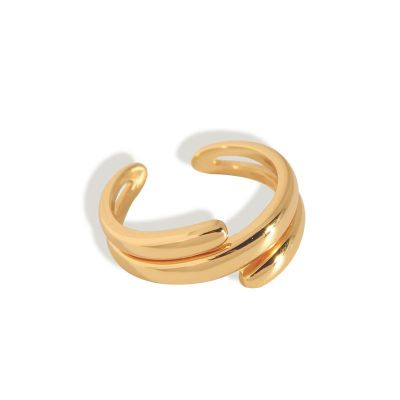 Fashion Multi Layer 925 Sterling Silver Adjustable Ring