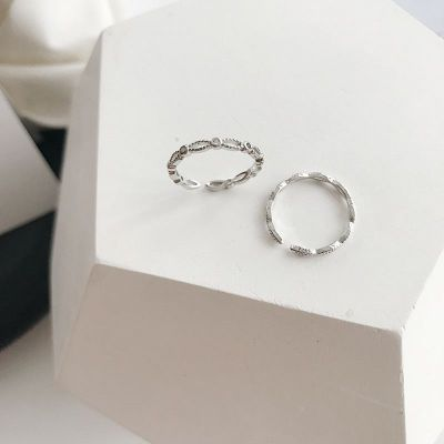 Minimalism Hollow 925 Sterling Silver Adjustable Ring