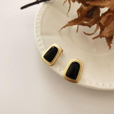 Office Created Agate Geometry 925 Sterling Silver Dangling Earrings