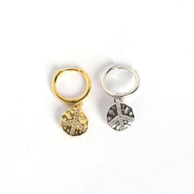 Fashion CZ Louts Leaf 925 Sterling Silver Leverback Earrings