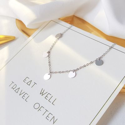 Choker Geometric Wafer 925 Sterling Silver Necklace