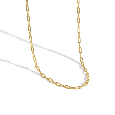 Simple Geometry Hollow Chain 925 Sterling Silver Choker Necklace