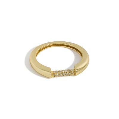 Minimalism Micro Setting CZ 925 Sterling Silver Ring