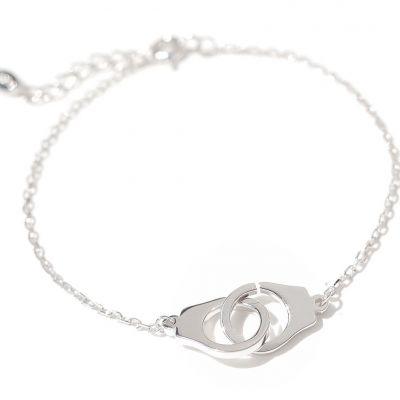 Simple Handcuffs 925 Sterling Silver Bracelet
