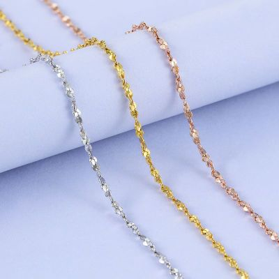 Simple Babysbreath Chain 925 Sterling Silver Necklace