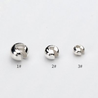 Simple 3mm - 5mm Solid 925 Sterling Silver DIY Open Keeper