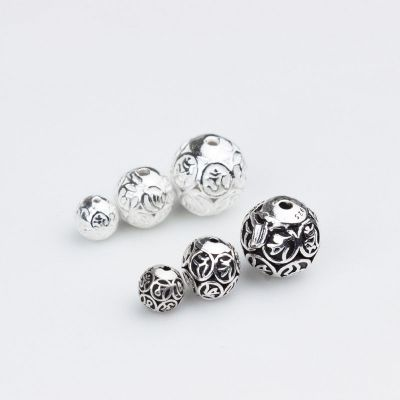 DIY Hollow Om Mani Padme Hum 925 Sterling Silver Beads