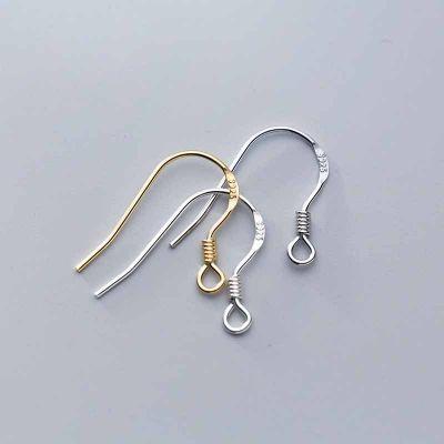 Simple Letters 925 Sterling Silver DIY Earring Hooks