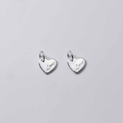 Love Letters Heart 925 Sterling Silver DIY Pendant