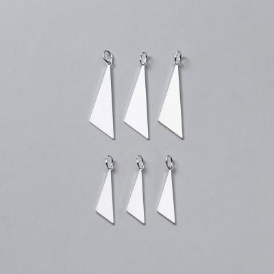 Geometry Triangle 925 Sterling Silver DIY Charm