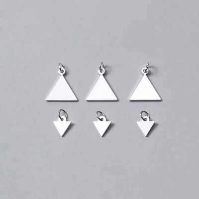 Geometry Equilateral Triangle 925 Sterling Silver DIY Charm