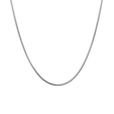 Simple 1mm Round Snake Chain 925 Sterling Silver Necklace