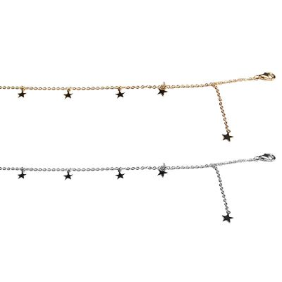 Fashion Mini Five Stars 925 Sterling Silver Anklet