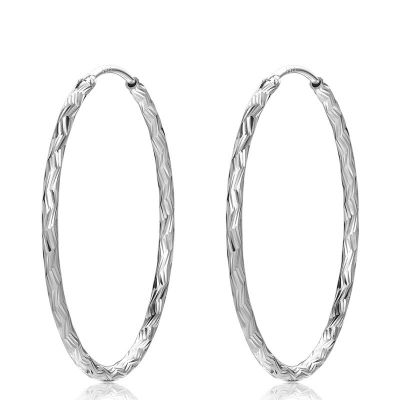 Simple 925 Sterling Silver Dangling Earrings