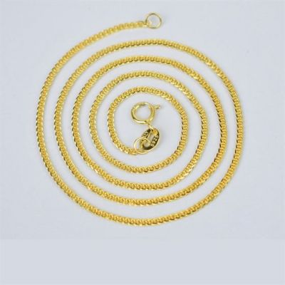 2020 Hot Yellow Gold Spiga Chains 925 Sterling Silver Necklace