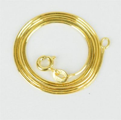 2020 New Yellow Gold 8 Sided Snake Chains 925 Sterling Silver Necklace