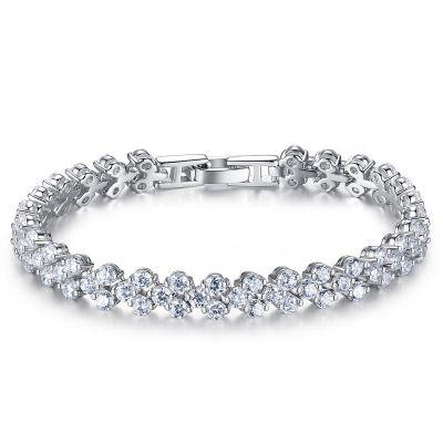 Sweet Glittering CZ 925 Sterling Silver Bracelet