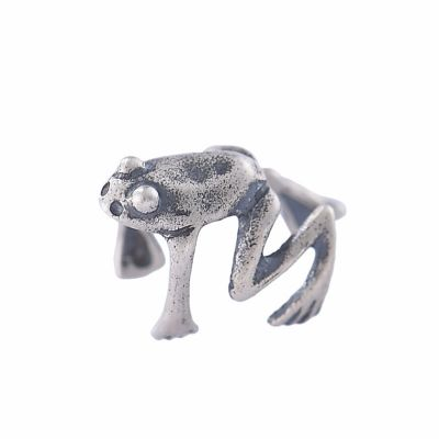 Punk Frog 925 Sterling Silver Non-Pieced Earrings(Single Piece)
