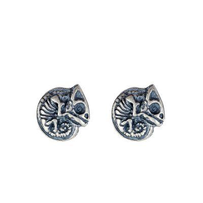 Fashion Chameleon Skeleton 925 Sterling Silver Studs Earring(Single Piece)
