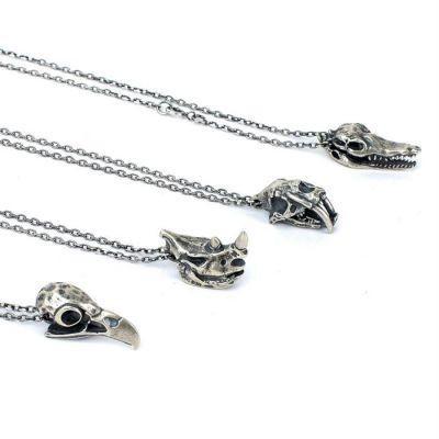 Punk Animal Eagle/Cheetah/Rhinoceros/Crocodile 925 Sterling Silver Pendant