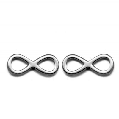 Hot Sale 925 Sterling Silver 8 Infinite Symbol Studs Earring