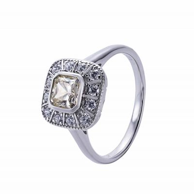 Masculine Square CZ 925 Sterling Silver Ring