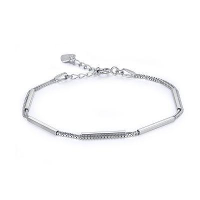 Fashion Double Layer Box 925 Sterling Silver Bracelet