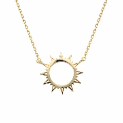 Holiday Hollow Sun Sunshine 925 Sterling Silver Necklace